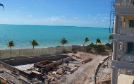 Shore Club adult swimming pool under construction - August 2015.