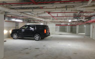 First car parked in the underground parking lot - February 2016