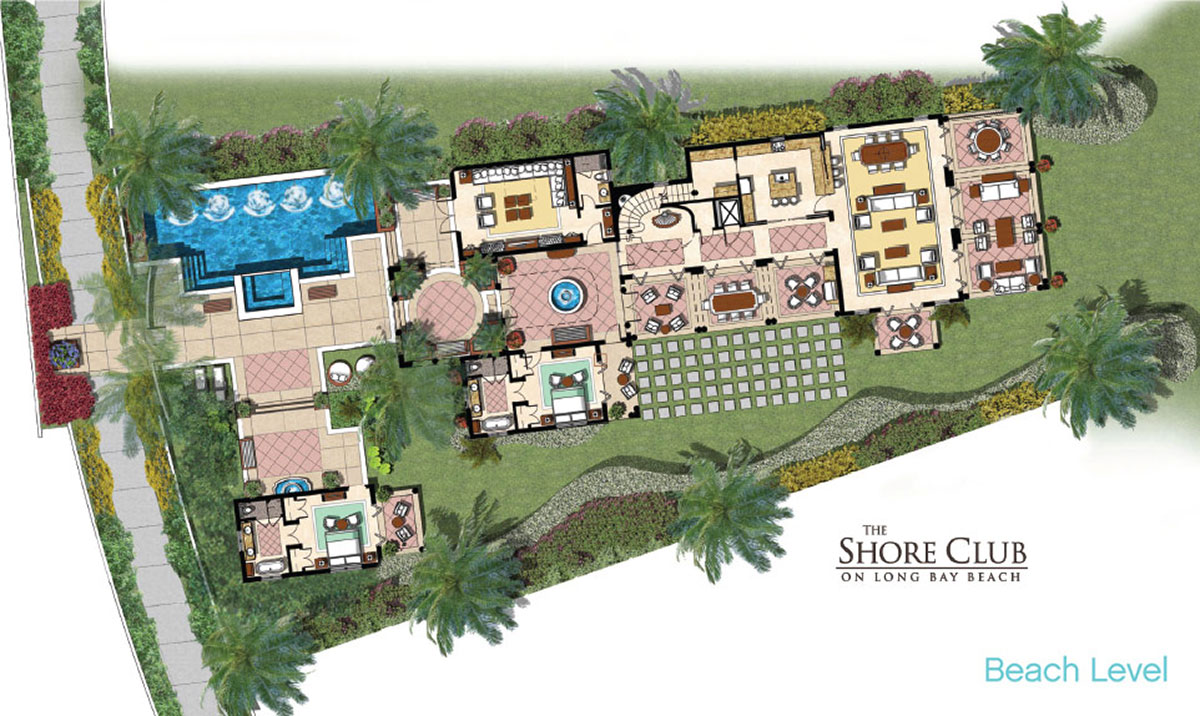 Floor plans the beach level